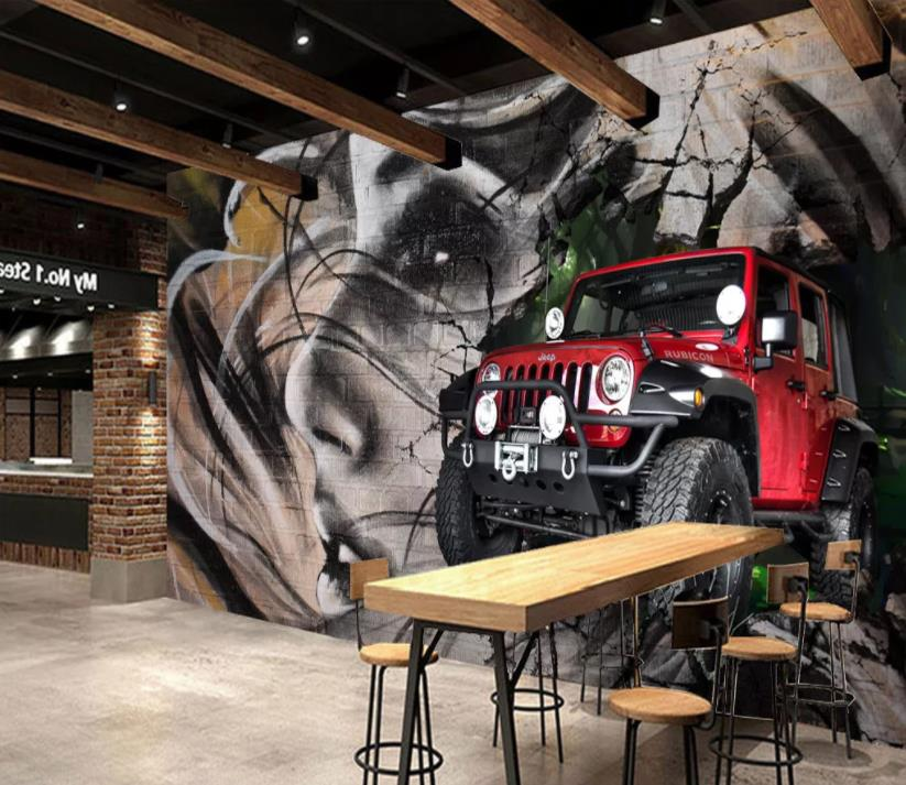 customize wallpapers 3 d car wall paper for coffee shop wallpaper murals Background wall