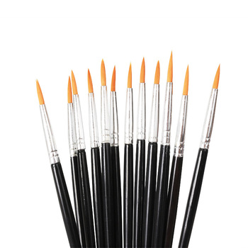 Excellent Shopping New Style Line Drawing Pen Oil Painting Pen Art Brush Brush Horsehair Plastic image