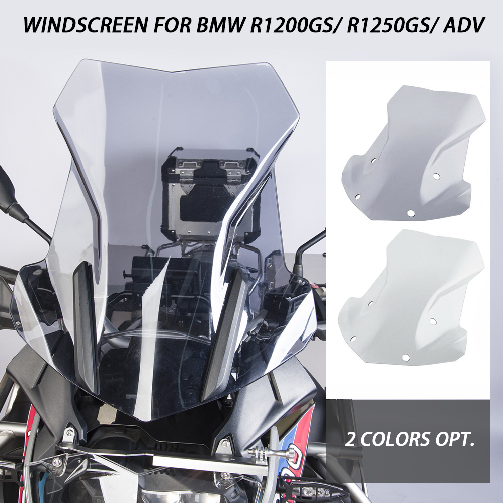 Double Bubble Windshield Windscreen For BMW <font><b>R1200GS</b></font> R 1200GS LC ADV Adventure 2013-2018 R1250GS 2019-2020 <font><b>Motorcycle</b></font> Accessories image
