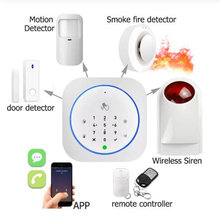 Wireless GSM Home Security Alarm System With Touch APP RFID SMS Voice Auto Dial PIR Motion Detect Sensor Burglar Intruder Alarm