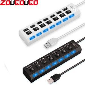 ZOUGOUGO USB Hub 2.0 7 Ports H