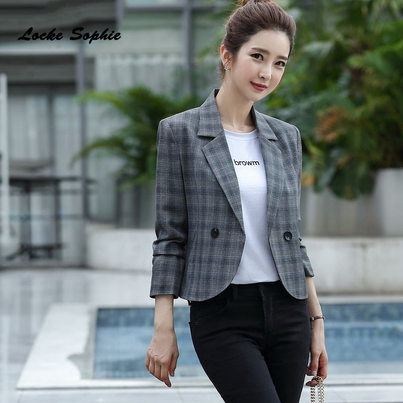 1pcs Women Plus Size Shorts Blazers Coats 2020 Winter Cotton  Blend Small Suits Jackets Ladies Skinny Office Blazers Suits Coats