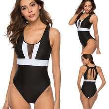 TYAKKVE 2019 Swimsuit Bikini Print Vintage Plus size Swimwear Women Bandeau One piece Monokini Female Bathing suit S-XL
