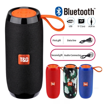 TG106 Bluetooth Outdoor Speaker Portable Wireless Column Loudspeaker Box Soundbar Black Red Blue Outdoor Sports Music Play