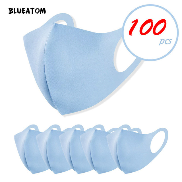 10/20Pcs mouth caps washable Care face washable pm25 facial masks flu Washable 3D Ice Silk Cotton Earloop Mask masks reusable 4