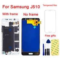 Für Samsung Galaxy J5 2016 J510 J510F J510FN J510M J510Y LCD Display Panel Touch Screen Digitizer Sensor Montage Mit Rahmen