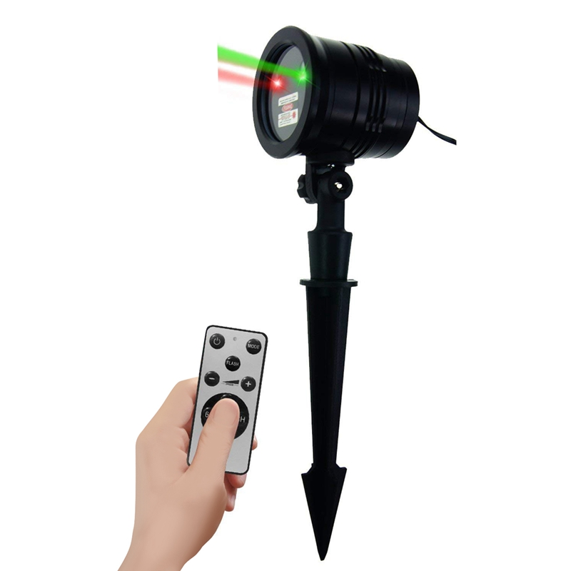 EASY Christmas Stars Light Shower 24 Patterns Projector Effect Remote Moving Waterproof Outdoor Garden Xmas Decorative Lawn|Stage Lighting Effect| |  - title=