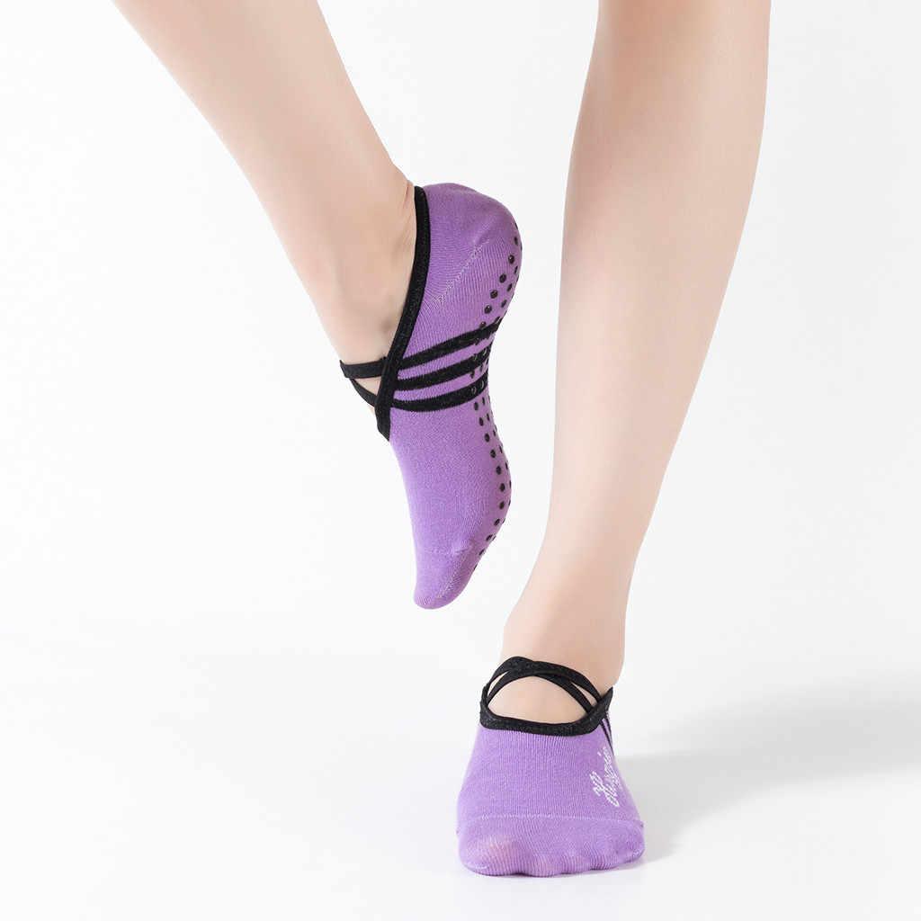 Offene spitze Frauen Anti Slip Finger-getrennt Yoga Socken Sport Ballett Tanz Socken wind hülse strümpfe Hohe qualität