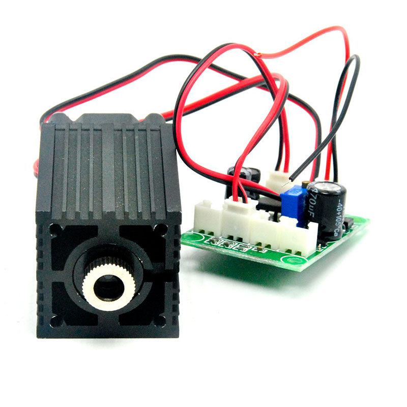 33mm*50mm 12V 980nm 50mw Infrared IR Laser Diode Module Focus Dot Line Cross IR Lasers TTL Fan Driver