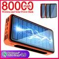 Портативное зарядное устройство на солнечной батарее, 80000 мАч, 4usb-порта
