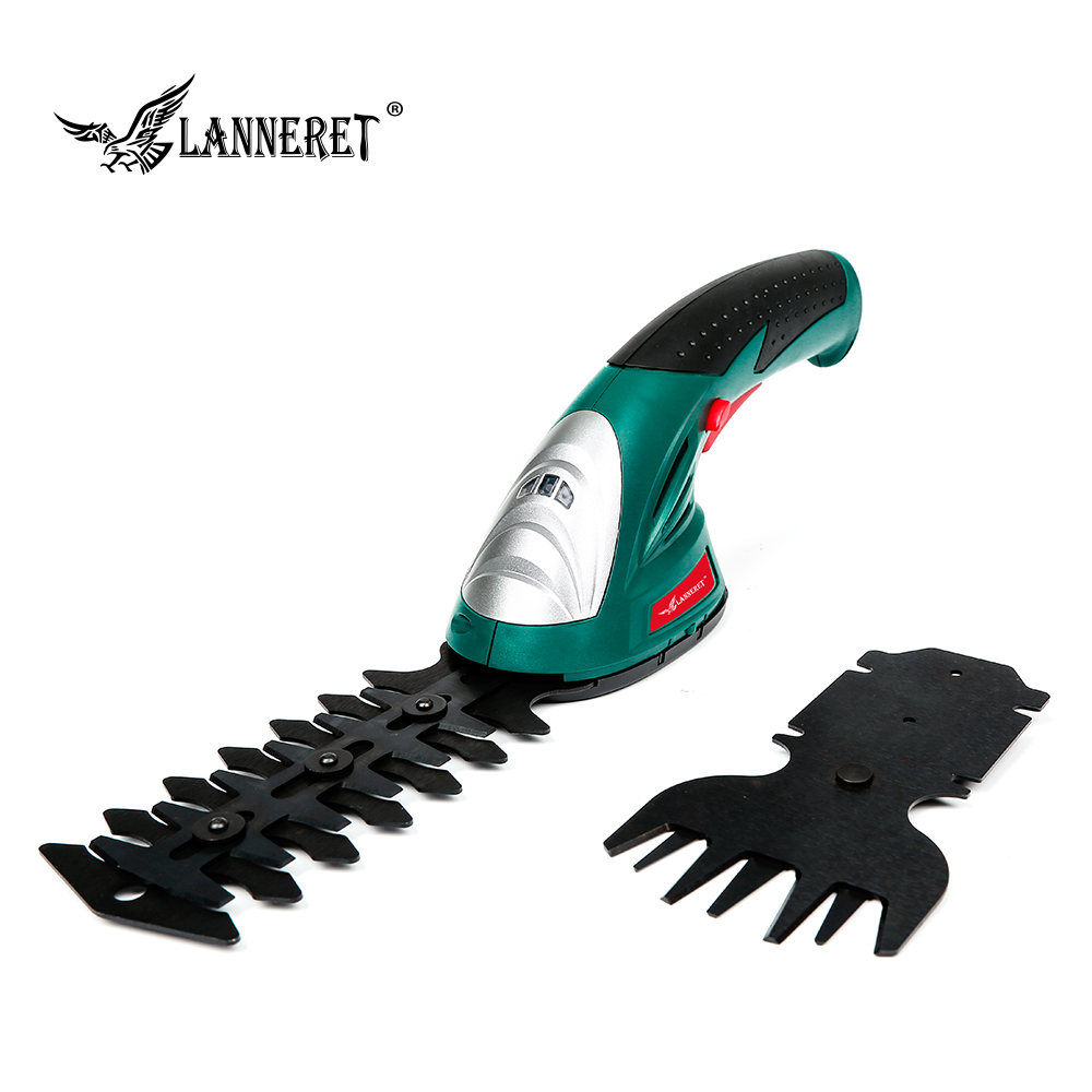 2 IN 1 7.2V Hedge Trimmer Electric Trimmer Grass Shear Lithium-ion Rechargeable Cordless Garden Tool