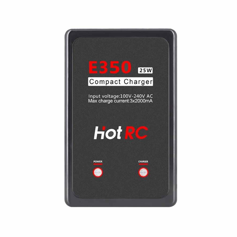 Hotrc E350 Pro 7.4 V/11.1 V 2 S 3 S Sel 100-240V AC Lipo Battery charger 25W 2000mA untuk RC Lipo AEG Airsoft Baterai