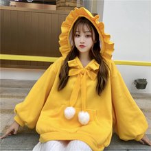 2019 Christmas korean style women kawaii clothes long sleeve oversized hoodie cute pink sweatshirt autumn warm hoodies for