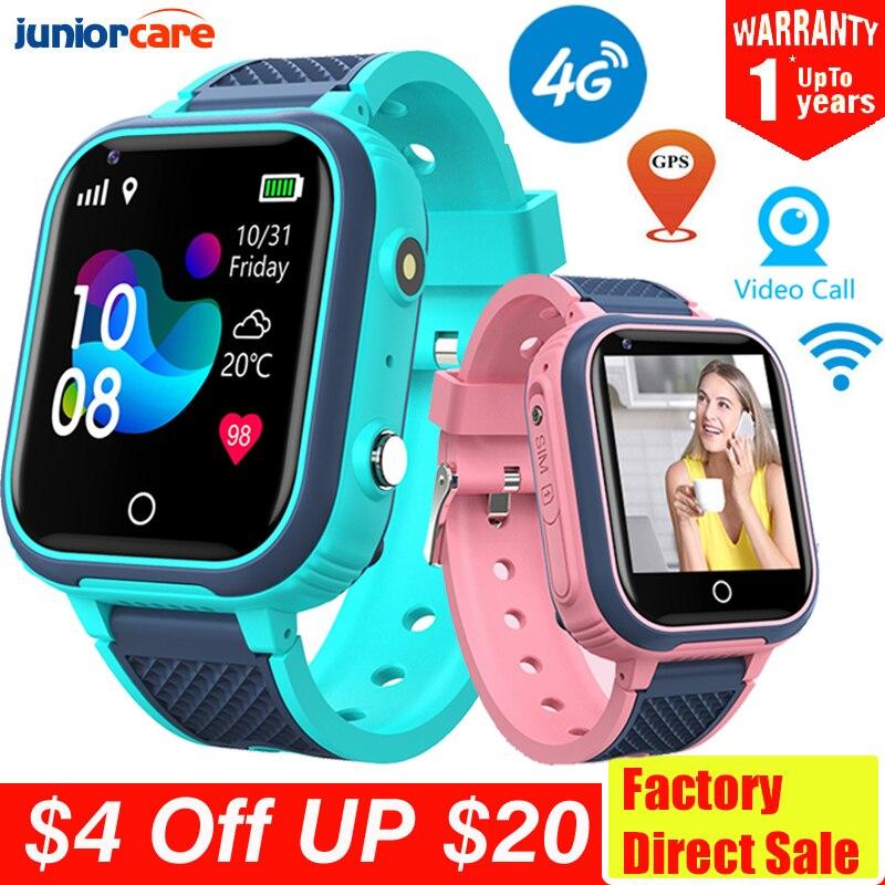 4G Смарт-часы детская камера GPS WIFI IP67 водонепроницаемые Детские умные часы для студентов видеозвонки монитор трекер местоположение телефон часы