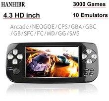 4.3 นิ้ว PAP K3 PLUS เกมคอนโซลสำหรับ CP1/GBA/FC/NEO/GEO แบบพกพา 64 บิตเครื่องเล่นวิดีโอเกม/คอนโซล 3000 เกม