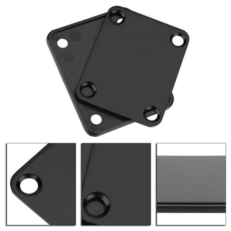 Electric Guitar Neck Plate Stainless Steel Joint Board With Screws For Bass Guitar Parts And Accessories Hot Sell 2020 New