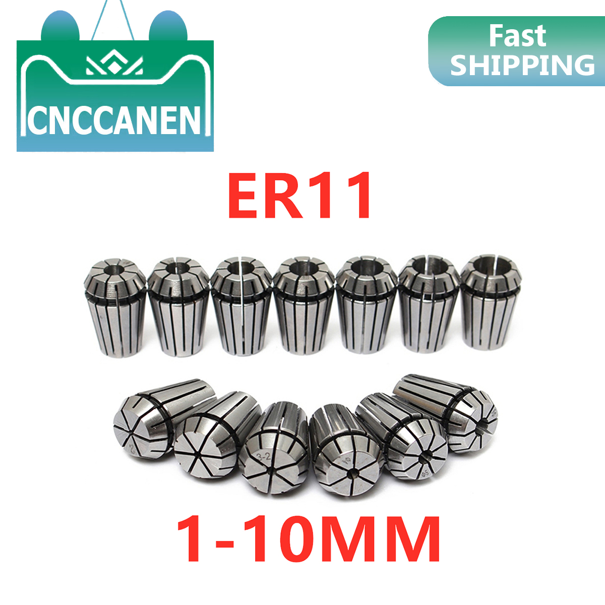 1pc ER11 3mm 1/8 Inch (3.175mm) 4mm 6mm 1mm 2mm 2.5mm Spring Collet Chucks Tool Holder For CNC Engraving Machine&Milling Lathe