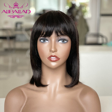 Короткие парики из человеческих волос Remy пряди человеческих волос для наращивания, Боба парик 130% плотность эффектом деграде (переход от тем...