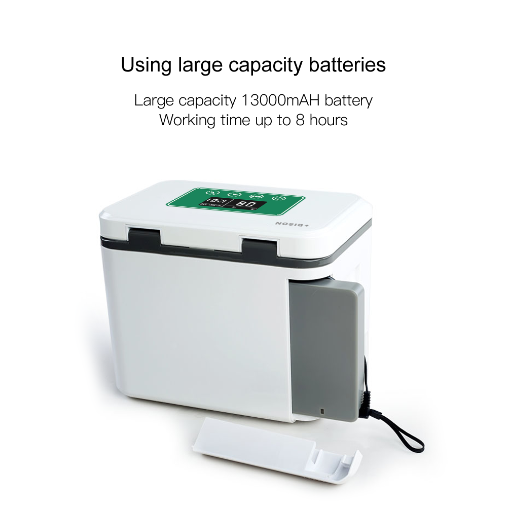 1.5L Capacity And CE Certification Battery Powered Small Cooler For Drogo Or Insulino With LCD Display Diabetics Blood Cooler