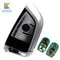 KEYECU Серебряный дистанционный смарт ключ-брелок 3 кнопки 315 МГц/433 МГц/868 МГц для BMW серии F CAS4 +/FEM FCC: KR55WK49863