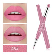 Miss Rose 2 In 1 Matte Lip Liner Pencil Lipstick Waterproof Long-lasting Lip Makeup Sexy Nude Red Lip Stick Contour Cosmetics