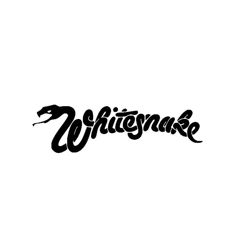 Creative Whitesnake Rock Warning Sign Car Sticker Accessories Vinyl PVC 18cm*5cm Motorcycle Waterproof  Car Styling Decal