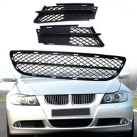 Front Bumper Lower Center Grille Mesh Lamp Frame Trim for BMW 3 Series E90 E91 2006 2007 2008 51117134074