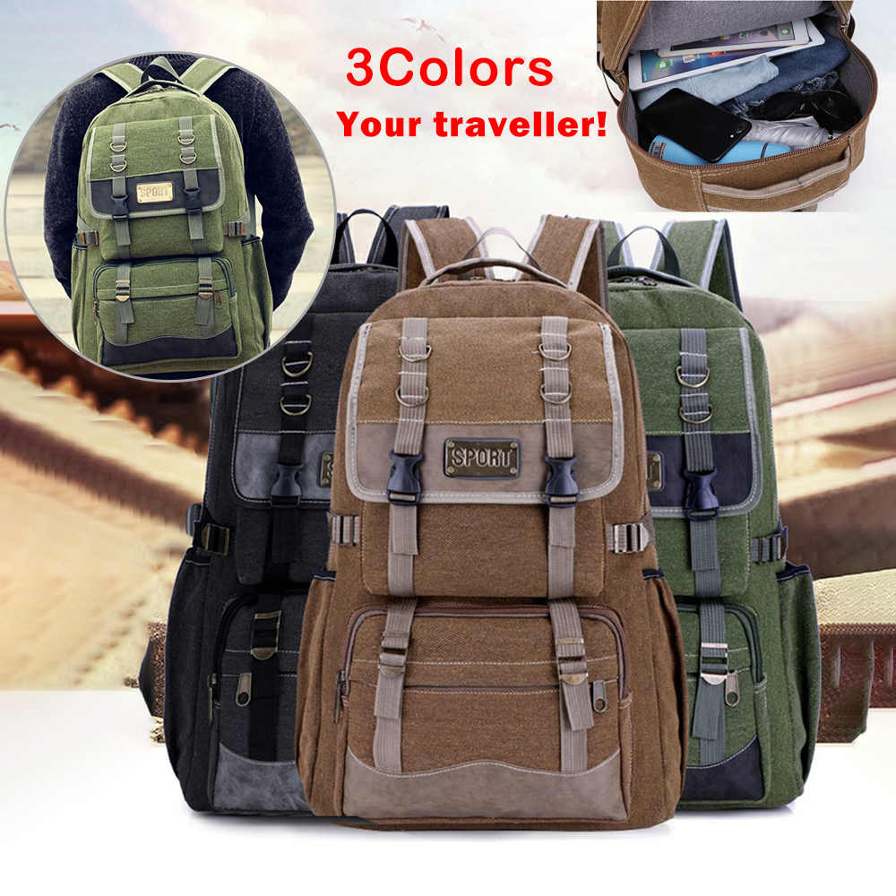 LITTHING New Men Oxford Travel Backpack Large Capacity Camping Casual Backpack  Laptop Backpack Women Outdoor Hiking Bag