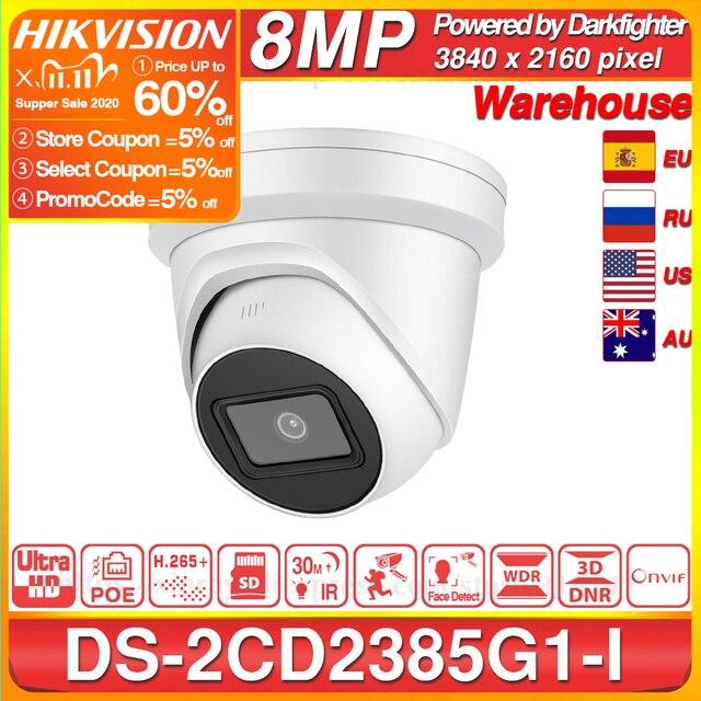 Hikvision Original IP Kamera DS 2CD2385G1 I 8MP Netzwerk CCTV Kamera H.265 CCTV Sicherheit POE WDR Sd karte Slot EeayIP 3,0 OEM