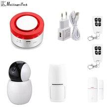 цена на Tuya Smart Life Home Security Intelligent WIFI GSM Home Burglar Security Alarm System Motion Detector APP Remote Control