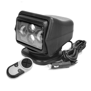 60W Led Search Spot Light 7inch 12V 24V Wireless Remote Control 360degrees rotation for Car SUV boat Marine Camping fishing