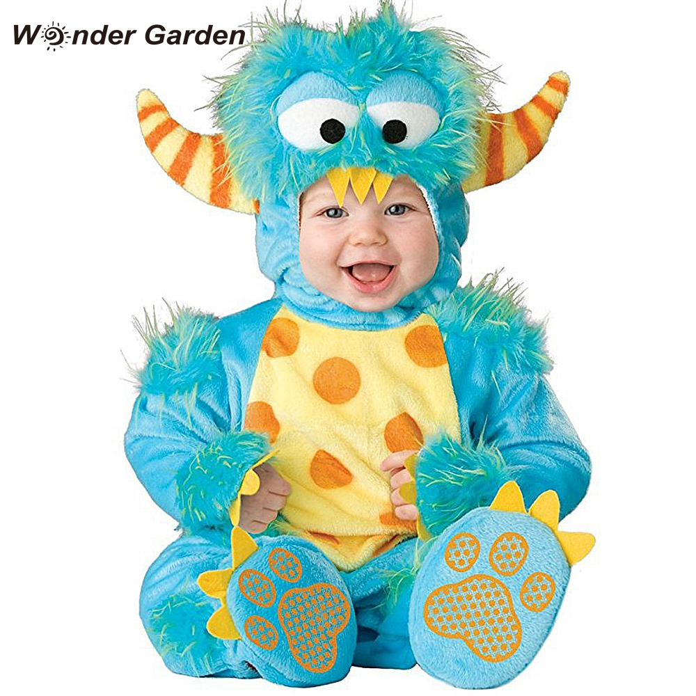 Wonder Garden Infant Toddler Baby Boys Girls Blue Monster Halloween Cosplay Costume Purim Holiday Costume|Rompers| |  - title=