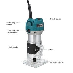 Image 4 - Электрический триммер для деревообработки 220 В 110 В 800 Вт, фрезерный станок для гравировки дерева, ручная машинка для резки дерева