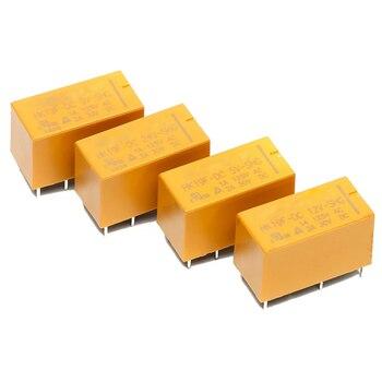 1PCS DC3V 5V 9V 12V 24V 8 Foot 5 Volt Relay 2 Open 2 Closed 2A Small Electromagnetic Relay Signal Relay HK19F-DC5V/6V/9V/12V-SHG недорого