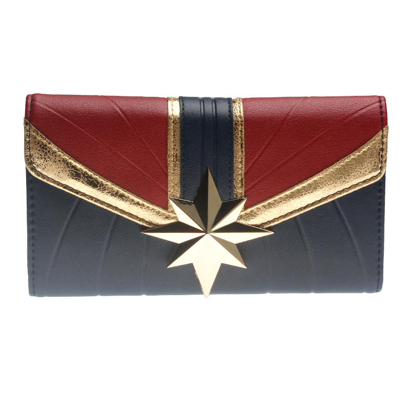 Captain Marvel Wallet Large Capacity Wallets Female Purse Lady Purses Women Card Holder DFT6037