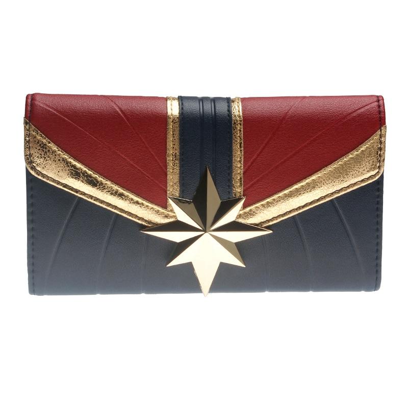 Captain Marvel Wallet Large Capacity Wallets Female Purse Lady Purses Women Card Holder DFT6037
