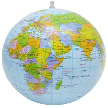 28CM English Version PVC Inflatable Globe World Map Balloon Beach Ball Toy Bath Toys For Kids Funny Gift For Home Decor(China)