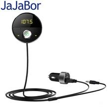 JaJaBor Bluetooth 5.0 דיבורית לרכב 3.5mm שקע AUX אודיו MP3 נגן אלחוטי משדר FM אוטומטי מוסיקה מקלט רכב מטען