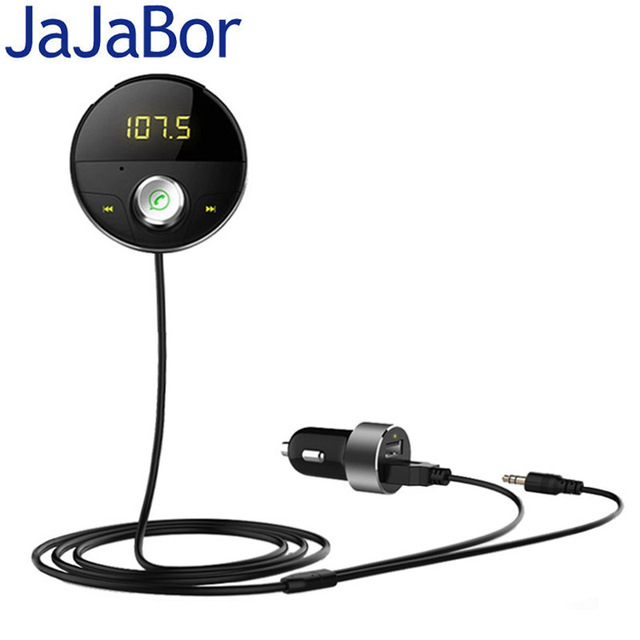 JaJaBor Bluetooth AUX Handsfree Car Kit 3.5mm Jack AUX Audio MP3 Player Wireless FM Transmitter Auto Music Receiver Car Charger