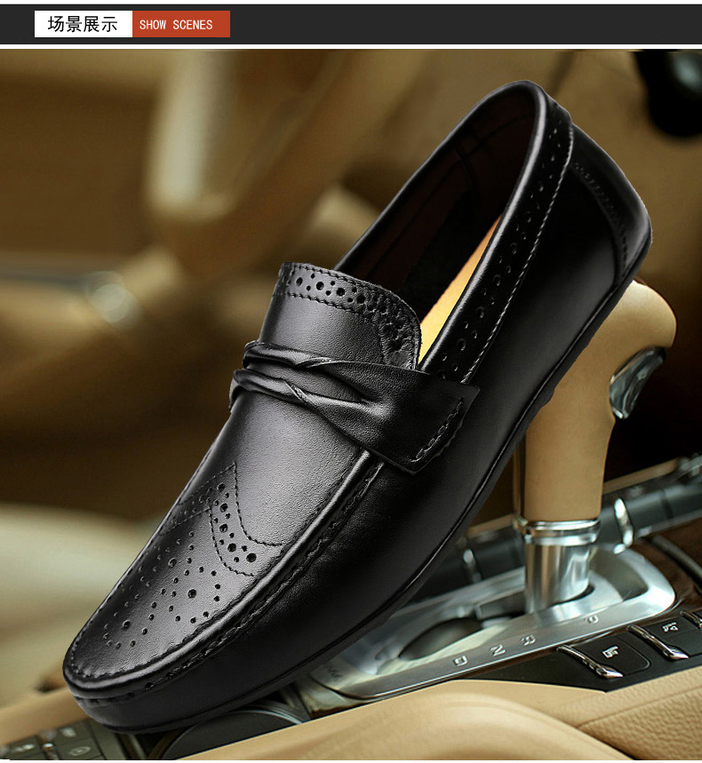 H8694ce0a8d584f868c4f8666ae53c013U Men Loafers Shoes Genuine Leather Casual Sneakers Male Fashion Carved Boat Footwear Soft Dress Party Shoes Men Chaussure Homme