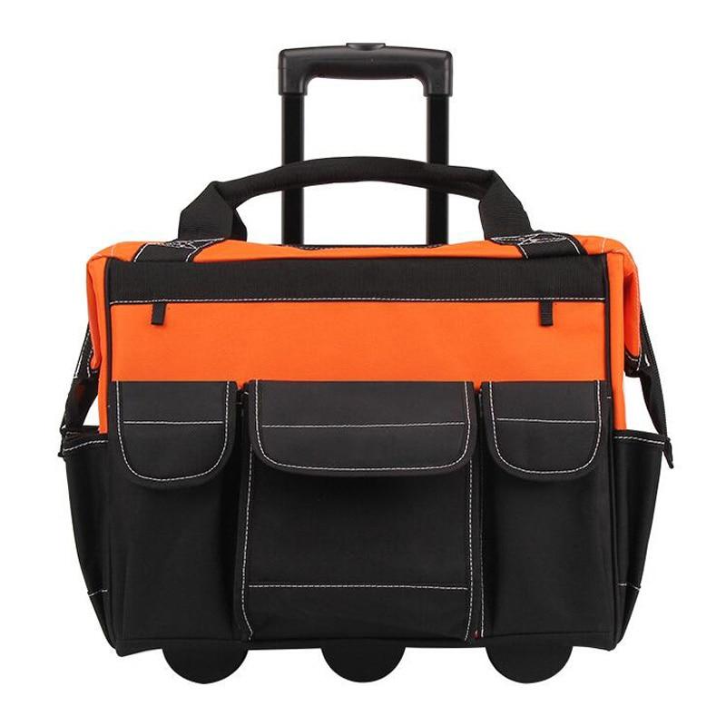 Trolley Kit Multifunction Oxford Cloth Kit Portable Tool Bag Storage Bag Hardware Repair Toolbox Carpenter Electrician Pack