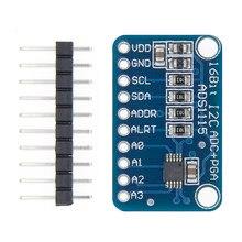 16-битный I2C ADS1115 модуль ADC 4-канальный с усилителем Pro Gain RPi