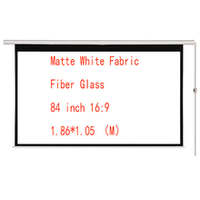 цены Thinyou 84 inch 16:9 Electric Screen With Remote Control Up Down Matte White Fabric Fiber Glass Curtain HD Projector Screen