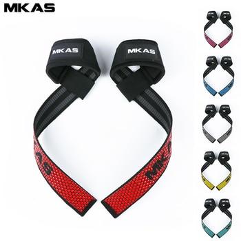 MKAS Weight lifting Wrist Straps Fitness Bodybuilding Training Gym CrossFit lifting straps with Non Slip Flex Gel Grip 1