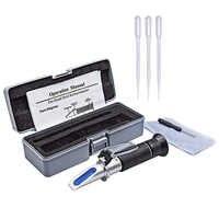 0-32% Handheld Refraktometer Brix Zucker Bier Alkohol ATC Refratometro Tester Werkzeug Würze 1,0-1,2 Wein-, der automaticlly