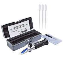 Bier Refractometer Brix 32% Wort Atc Voor Refractometer Bier Handheld Tool Hydrometer Concentratie Geesten Test Refractometer