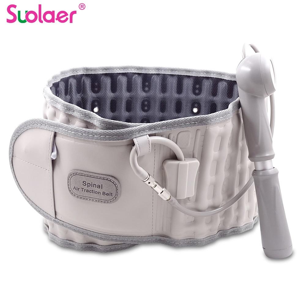Dropshgipping Family Unisex Back Relief Belt Waist Brace Support Belt Lumbar Traction Backach Waist Brace Pain Release Massager(China)