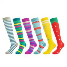 500 pairs/lot men women compression socks multi pattern geometry