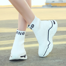 Light High Top New Breathable Flying Socks Shoes Women Sports Elastic Socks Sneakers Woman Ladies Flat Running Walking Shoes 2019 summer new fashion running shoes flying woven socks women sneakers soft breathable lace up shoes ladies white shoes woman