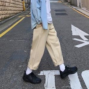 Image 5 - 2020 Mens Simple Leisure Mens Cotton Harem Pants Loose Fashion Trend Black Color Casual Pants Male Trousers Plus Size M XL
